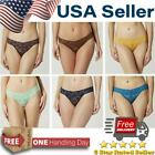 Woman Lace Thong Lingerie Panties Waistband Underwear Plus Size G-string USA