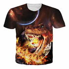 Womens Mens Funny Graphic 3D Print Short Sleeve T-shirt Casual Crew Neck Tee Top