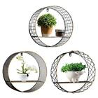 Hollow Wall Decoration Hanging Nordic Wrought Iron Round Shelf Home Accessories