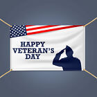 HAPPY VETERAN'S DAY Vinyl Banner, Military Day Outdoor Display Sign With Grommet