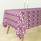 Tablecloth Eggplant Purple Linen Flower Sun Holli Zollinger Cotton Sateen