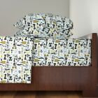 Fashion Style Women Dresses Apparel Fashion Cotton Sateen Sheet Set by Roostery