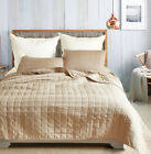 Fashion Pure Color Reversible Bedspread Pillowcase Bedding Sets Queen King Size