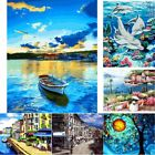 Painting By Number Kit Digital Oil Painting Canvas Scenery Scape Landscape Trees