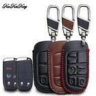Leather Remote Key FOB Case Cover For Jeep Grand Chrysler Cherokee Dodge Fiat $8.99 USD on eBay