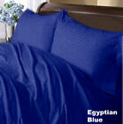 "1000 TC Egyptian Cotton Deep Pocket Bedding Items Stripe Colors RV Bunk 30""X 80"""