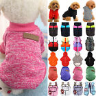 Pet Dog Sweater Clothes Sports Vest Warm Jumper Coat Hoodie Puppy Apparel XS-5XL
