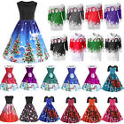 Kyпить Damen Weihnachten Weihnachtsmann Kleid Rockabilly Swing Xmas Party Cocktailkleid на еВаy.соm