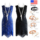 1920s Flapper Dress Vintage Great Gatsby Party Dresses Beaded Fringe 20s Costume