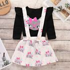 Toddler Baby Kids Girl Strap Suspender Skirt Overalls Dress Outfit Clothes 6M-5T