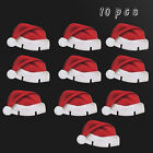 10pcs Santa Claus Hat Christmas Silverware Holder Christmas Decrations For Home