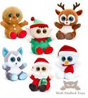 Christmas Plush Santa Gingerbread Snowman Husky Rudolph Elf Animotsu Soft Toy