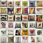 Home Decor Throw Pillow Cover Case Linen Cotton Sofa Chair Waist Cushion Cover image