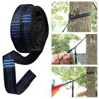 2 Adjustable Tree Strap Hanging Extension Hammock Straps with Carabiners