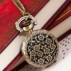 Vintage Women Watch Bronze Quartz Pocket Watch Pendant Necklace Watches L