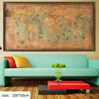 US Nautical Sea World Map Retro Old Art Paper Painting Home Decor Wall Poster