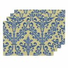 The religious ministry Placemats Damask Yellow Butter Blue French Provencal Set of 4