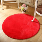 Living room Carpet Bedroom Floor Mat Circle Round Soft Shaggy Area Round Rug UAS