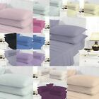"""Extra Deep Fitted Sheet 16""""/40CM Plain Dyed Poly Cotton Pillowcases Bed Sheets image"""