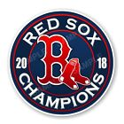 Boston Red Sox 2018 World Series Champions Round Decal on Ebay