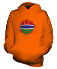 GAMBIA FOOTBALL UNISEX HOODIE TOP GIFT WORLD CUP SPORT
