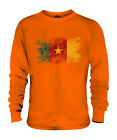 CAMEROON DISTRESSED FLAG UNISEX SWEATER TOP CAMEROUN FOOTBALL CAMEROONIAN SHIRT