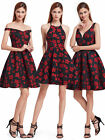 Ever-Pretty US Red Short Cocktail Party Dresses Christmas Prom Gowns Homecoming
