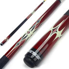 "58"" 2-Piece Canadian Maple Wood Billiard Pool Cue Stick (Red, Avail 18-21 Oz)"