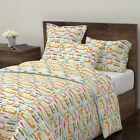 Zoo Lion Rabbit Bunny Crocodile Dog Pets Sateen Duvet Cover by Roostery