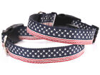 Pet US Flag Collar Large Dog Adjustable National Pride Neck Strap Nylon Necklace