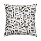 Dogs Dog Bowl Cute Dog Dog Pet Throw Pillow Cover w Optional Insert by Roostery