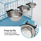 New Stainless  Hanging Food Water Bowl For Crate Cage Coop Dog Parrot Bird Pet G