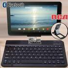 "For 10"" RCA Tablet Slim Wireless Bluetooth Keyboard + Stand Holder"