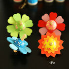 Wooden Toys Flower Rotate Baby Wood Toys For Kids Spinning Top Toys Gift
