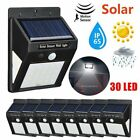 1-8PCS 30LED Solar Powered Wall Light Motion Sensor Outdoor Garden Security Lamp