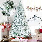 Christmas Tree Deluxe Home Decor Green White Frosted 4FT 5FT 6FT 7FT 8FT