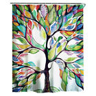 "71"" Fabric Waterproof Bathroom Bath Shower Curtain Printed Decor W/ 12 Hooks Set"