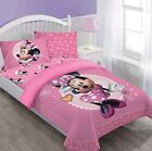 Внешний вид - Disney Pink Minnie Mouse Comforter+Fitted Sheet+Pillow Case Set Twin/ Full Size