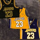 LeBron James 23 Los Angeles Lakers Home / Away Black Gold Purple Stitched Jersey