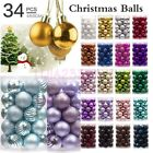 34pc 40mm Christmas Tree Balls Small Bauble Hanging Home Party Ornament Decor