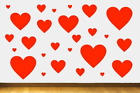 Love Heart Romance Wall Stickers Vinyl Car Decal Choose Size + Colour