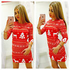 Christmas Women Knit Sweater Knitwear Party Bodycon Mini Vintage Short Dress USA <br/> ❤CHRISTMAS NEW STYLE❤US STOCK DISPACH❤FAST &amp; 3~7 DAYS❤