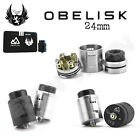 AUTHENTIC 24MM OBELISK BF SQ RDA1 | Black or Silver | Bottom-Feed Pin Included
