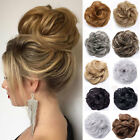 Real Natural Curly Messy Bun Hair Piece Scrunchie Thick Fake Hair Extension UR/