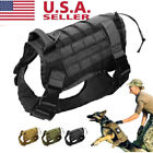 Tactical K9 Training Dog Harness Military Police-Adjustable Molle Nylon Vest US