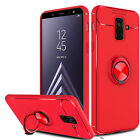 For Samsung Galaxy A6 (2018) Phone Case Shockproof Ring Holder Stand Slim Cover