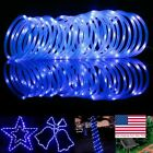 Внешний вид - Solar Rope Powered Copper Wire String Lights Tube LED Strips Outdoor Garden Dec
