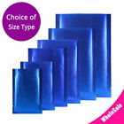 Assorted Sizes Matte Blue Thick Rice Paper Foil Mylar Open Top Pouch Bag B23