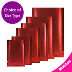 Assorted Sizes Matte Red Thick Rice Paper Foil Mylar Open Top Pouch Bag R23