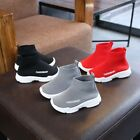Kids Boy Girl Fashion High Top Socks Shoes Casual Sports Athletic Sneaker New US